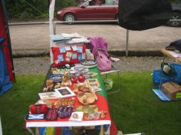 Some of the goods on offer at the Lorn Highland Games in June 2015